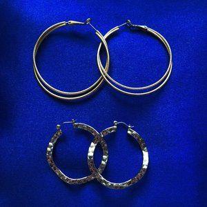 Lia Sophia Hoop Earrings - Gold & Silver